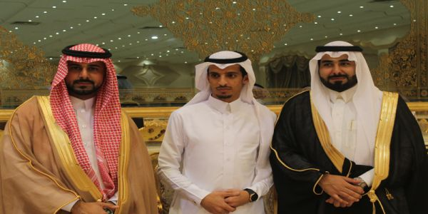 بالصور - الأخوين محمد وعلي موسى الشهري نجوم قاعة الفيصل بالرياض