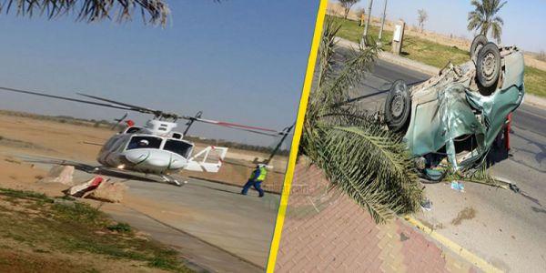 هلال #القصيم حادث طريق الجامعة نتج عنه إصابة متوسطة وثلاث فرق إسعافية باشرت الحادث