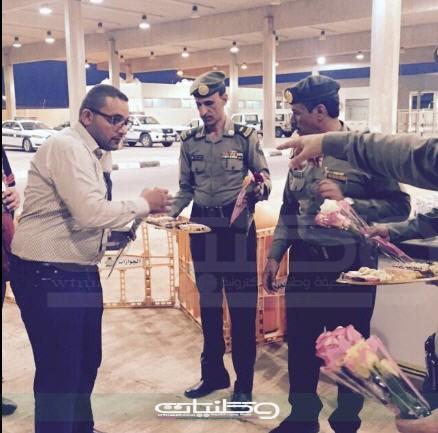 بالورد والماء جوازات #عرعر تستقبل بعثة الحج العراقية بمنفذ الجديدة