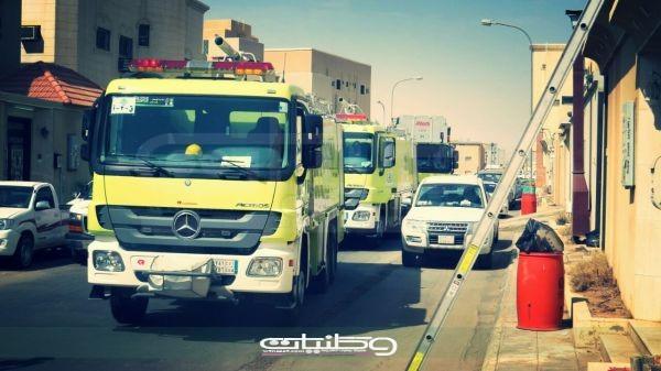 مدني #بُريدة يُخمد صباح اليوم حريق منزل بحي النهضة