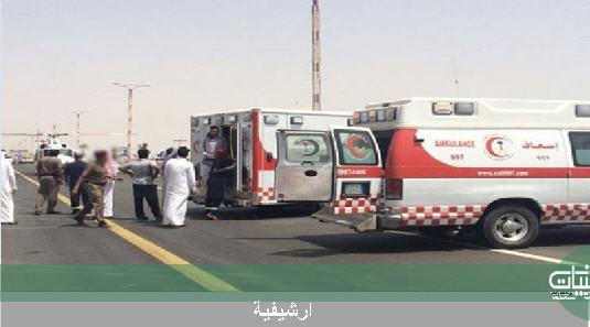 اربع وفيات حصيلة حادث تصادم على طريق #خميس_مشيط #بيشة