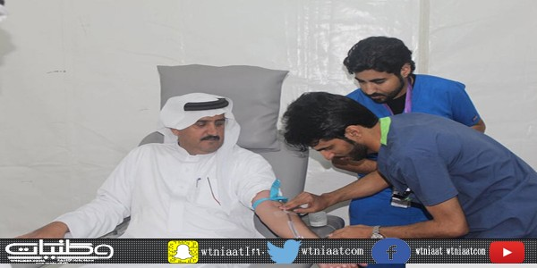 نادي ألمع يشارك في حملة التبرع بالدم التي نظمها القطاع الصحي