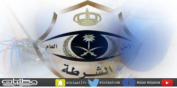 شرطة #الجموم تضبط مواطن وآخر من جنسية عربية يُديرون مصنع للمُسكر