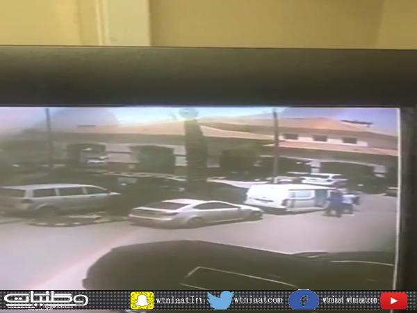 فيديو يُظهر لحظة الإعتداء المُسلح على عربة نقل الأموال في الرياض