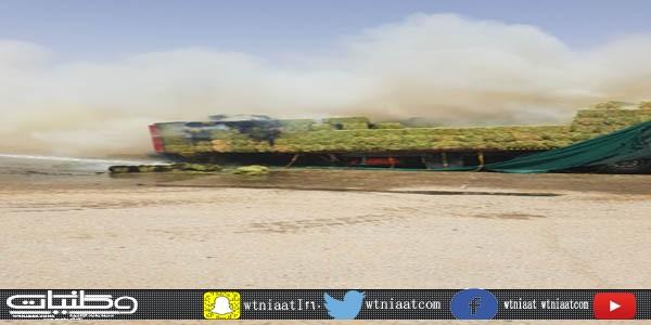 مدني مُحافظة #الشماسية يُخمد حريق ناقلة مُحملة ببرسيم