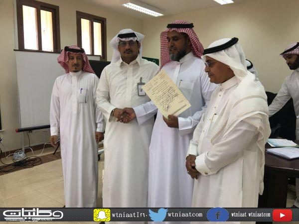 """الزميل """"خالد العمري"""" يتلقى شكر تعليم #مُحافظة_قلوة"""