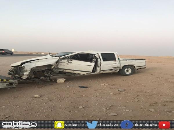 حادث تصادم بطريق جديدة #عرعر يُخلف 4 إصابات ومُطالبات بتحرك الجهات المعنية