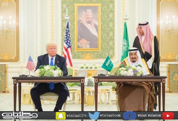 خادم الحرمين الشريفين ورئيس الولايات المتحدة الأمريكية يوقعان على إعلان الرؤية الاستراتيجية المشتركة