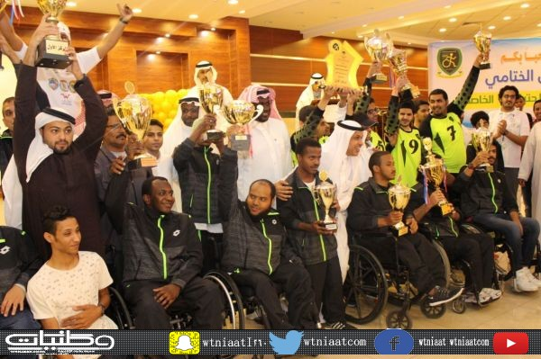 نادي #جدة لذوي الأحتياجات الخاصة يحتفل بأبطال النادي