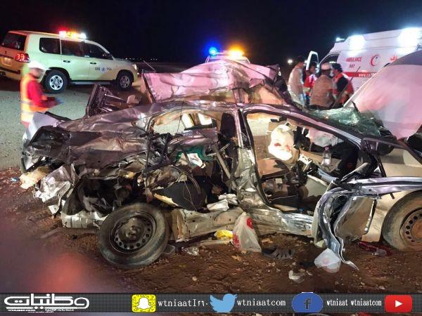 حادث تصادم بطريق رفحاء حفر الباطن يُخلف 6 وفيات لعائلة مصرية