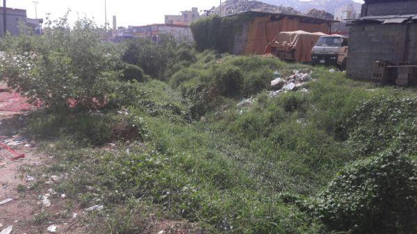 بالصور - في ثلوث المنظر روائح الصرف صحي تُثير استياء المُصلين بجامع بن عثيمين