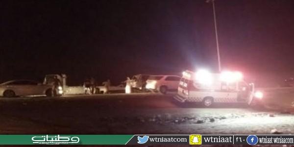 حادث مروري يغلق حركة المرور على طريق #بارق محايل