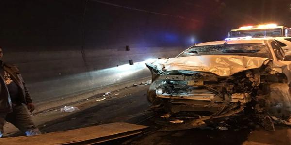 حادث تصادم بعقبة شعار يُخلف وفاة وست إصابات لعائلة واحدة
