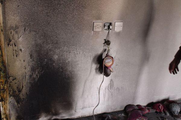 نجاة امرأة وثلاثة اطفال في حريق شقة سكنية بمُحافظة #عنيزة