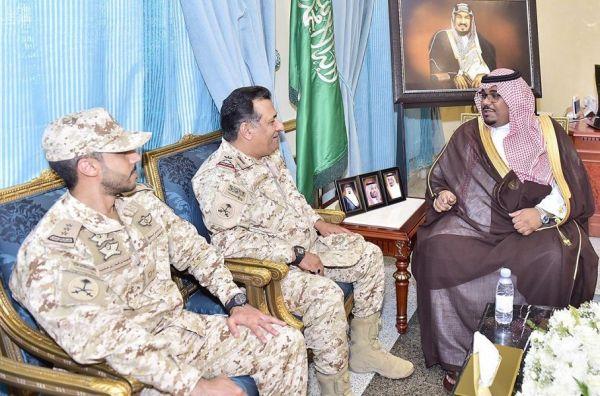نائب أمير #نجران يلتقي قائد لواء الأمير تركي الآلي الأول بـ #الحرس_الوطني