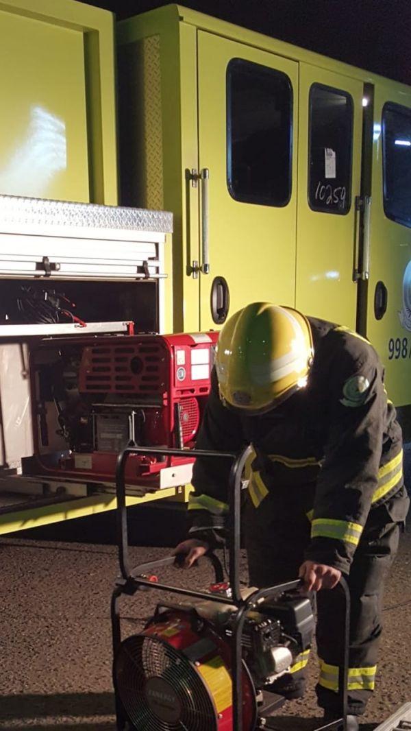 مدني رجال المع يخمد حريق غرفة بشقة سكنية بقرية البتيله