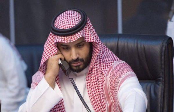 سمو ولي العهد يجري اتصالاً هاتفياً برئيس الجمهورية الفرنسية