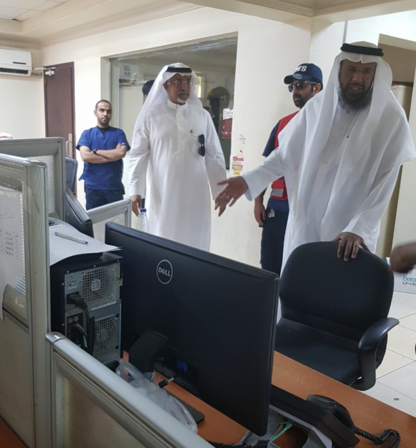رئيس هيئة الهلال الاحمر السعودي بالإنابة يقوم بزيارة فرع الهيئة بمنطقة الرياض