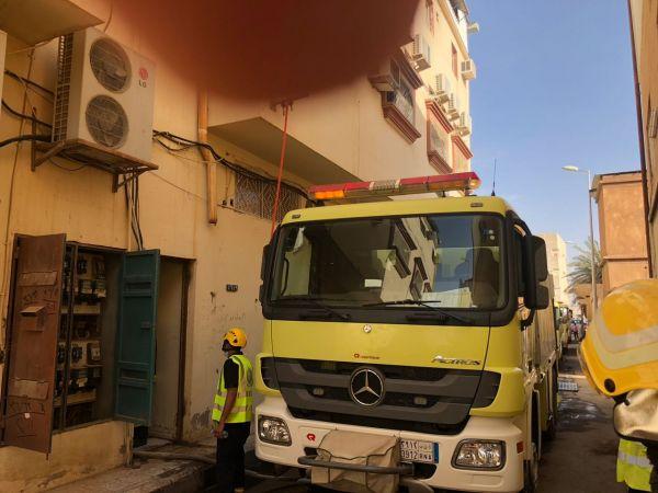 وفاة مقيم بحريق شقة سكنية بالحي التجاري في #الرس
