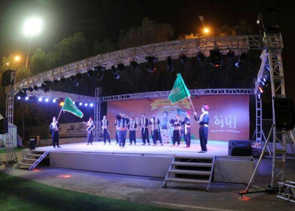 """الفلكلور الشامي يجذب زوار المفتاحة وشارع الفن بمهرجان أبها يجمعنا"""""""