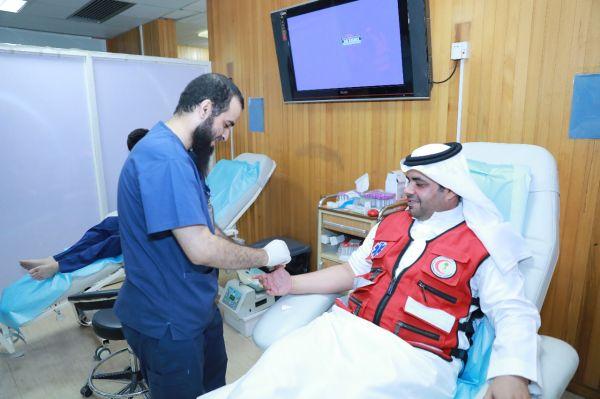 هيئة الهلال الأحمر السعودي  تدشن برنامج معكم  في المراكز التابعة لمحافظة المجمعة