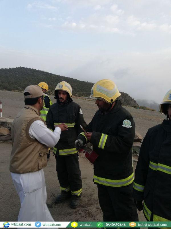 مدني عسير يباشر حادث سقوط شاب من مرتفع الطيران الشراعي في أبها