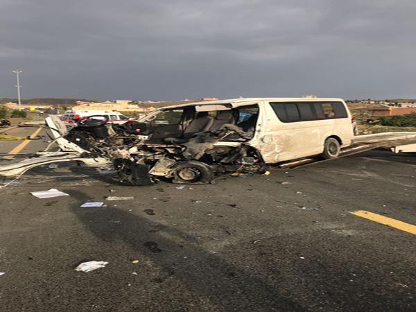 وفاة و (14) إصابة في حادثين منفصلين بمنطقة عسير