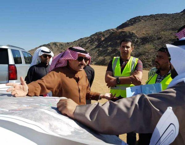 """""""الشراري""""يتفقد عدد من مشروعات """"النقل"""" بمحافظة #بيشة"""