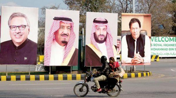 طرقات #باكستان تكتسي بصور القيادة قُبيل زيارة سمو ولي العهد