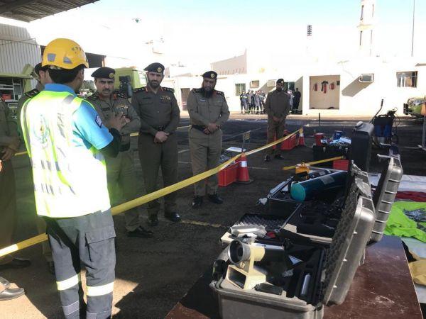 العميد الشهراني يتفقد قوة طوارئ الدفاع المدني الخاصة في #تبوك