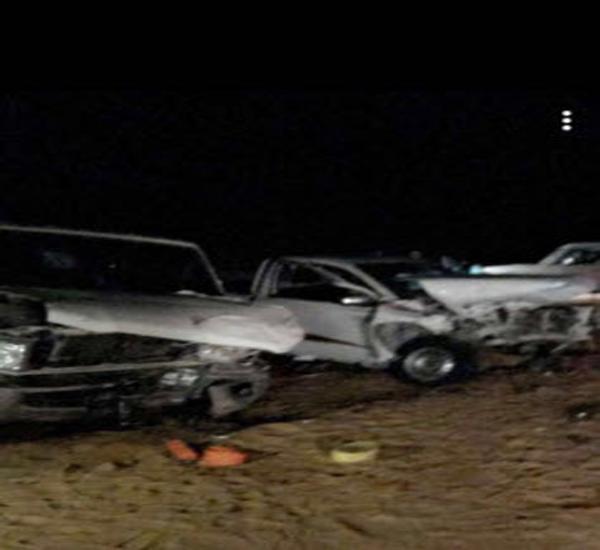 """إصابة """"7"""" اشخاص في حادث سير بالنبقية في #القصيم"""