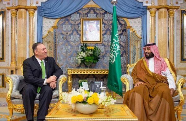 ولي العهد يلتقي وزير الخارجية الأمريكي في #جدة