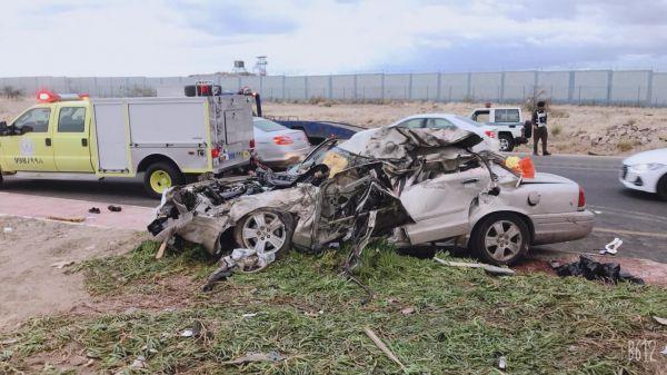 وفاة 7 من عائلة واحدة وإصابة 3 في حادث تصادم بطريق تندحة في عسير