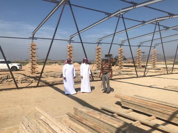 رئيس بلدية #بارق يتفقد أعمال مشروع سوق المواشي جنوب المُحافظة