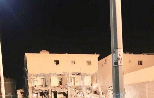 إصابة 13 شخصاً في إنهيار مبنى سكني بحي الفاخرية بالدمام