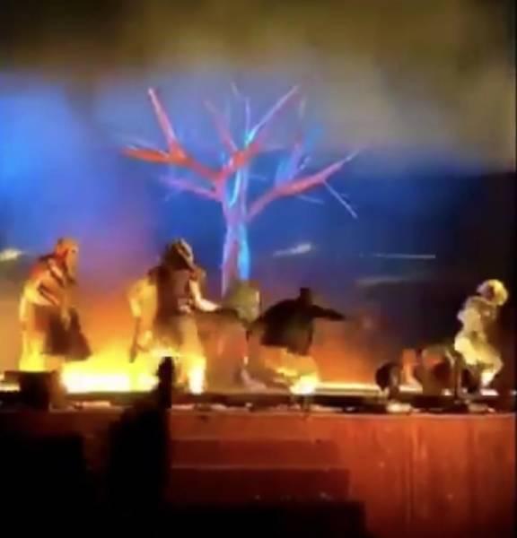 القبض على مُقيم طعن رجلين وإمرأة ..أعضاء فرقة مسرحية في #حديقة_الملك_عبدالله