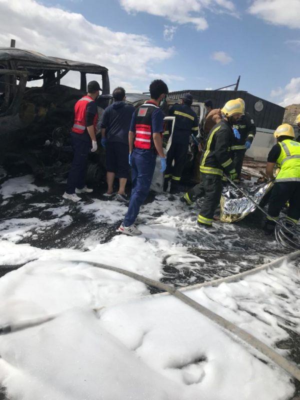 وفاة 6 بحادث إنقلاب ودهس بطريق أبها خميس مشيط