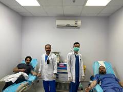 منسوبي صحة حفر الباطن يتفاعلون مع مبادرة التبرع بالدم