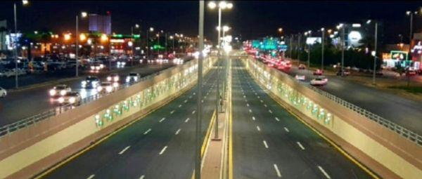 نفق طريق الملك عبدالله وسط #بريدة ينجح في أول إختبار لهُ بعد إفتتاحه
