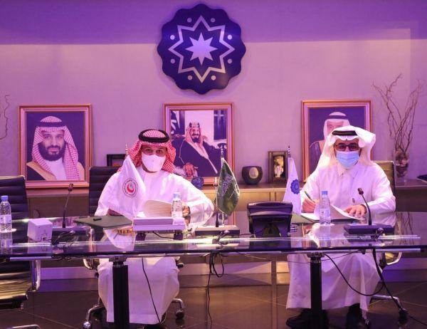 #الهلال_الأحمر ومدينة الأمير سلطان للخدمات الإنسانية يوقعان اتفاقية مذكرة تعاون
