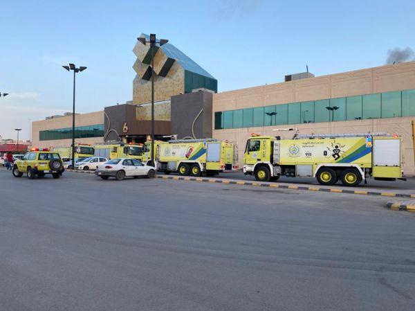مدني الرياض يُخمد حريق محدود بإحدى المُجمعات التجارية دون إصابات