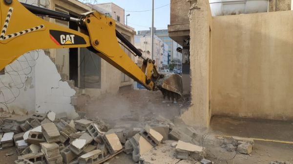 #أمانة_جدة إزالة عقارات مخالفة وإعادة فتح وتأهيل أحد شوارع بنطاق البغدادية