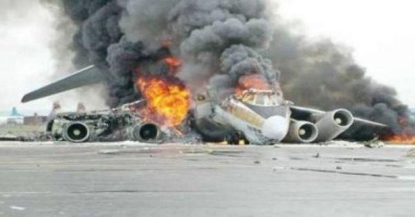 سقوط طائرة إثيوبية في مطار صومالي