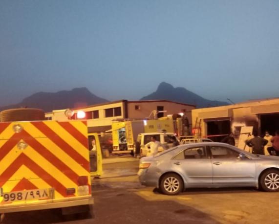 حريق محدود بإحدى ورش الحدادة يُعيد مُطالبات أهالي ثربان بمركز للدفاع المدني