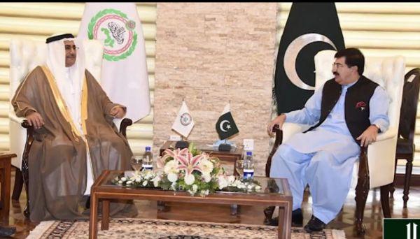رئيس #البرلمان_العربي ورئيس مجلس الشيوخ الباكستاني يوقعان اتفاقية للتعاون المشترك