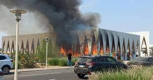 """إصابة 14 شخصًا بإختناق في حريق بمسرح الـ """"بلازا"""" في مهرجان الجونة السينمائى"""