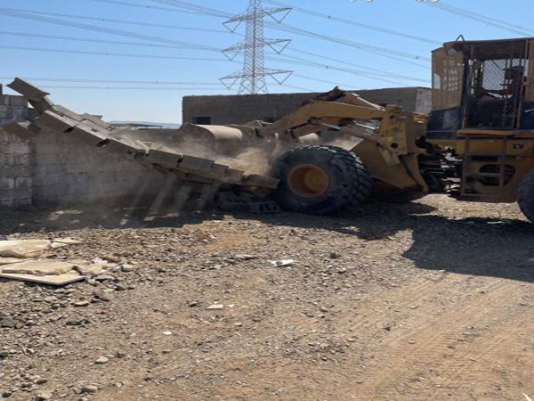 #أمانة_جدة إزالة تعديات على أراضٍ حكومية بمساحة 50 ألف متر بنطاق طيبة