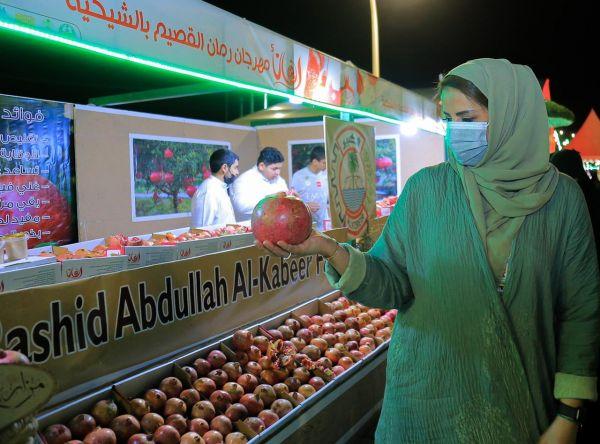 سمو الأميرة هند بنت عبدالرحمن تزور مهرجان رمان القصيم الخامس بالشيحية