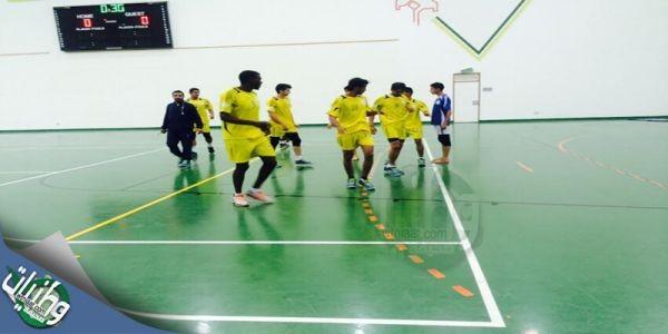 فريق #جامعة_الباحة يتغلب على نضيره المجمعة بثلاثة اشواد مقابل شوط