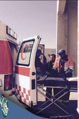 هلال #تبوك يستقبل طفل مصاب بصعق كهربائي وينقل مصاب حادث ضبا